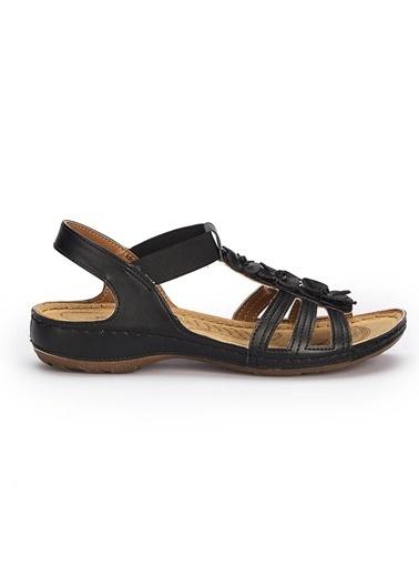 Polaris Ortapedik Bayan Sandalet Siyah